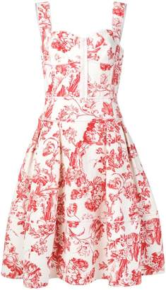 Oscar de la Renta floral toile print dress