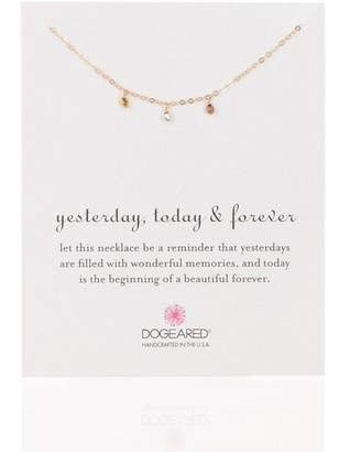 Dogeared 14K Gold Vermeil Yesterday Today & Forever Station Bead Necklace