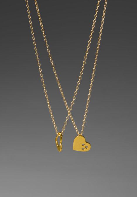 Gorjana Friendship Heart Necklace Set
