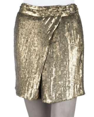 Phillip Lim 3.1 Sequined Wrap-Front Shorts