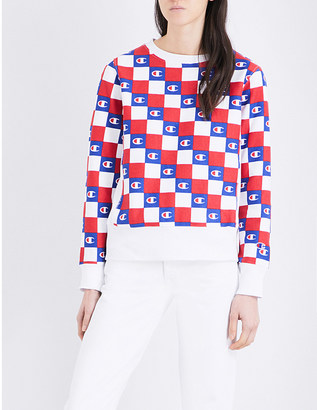 Champion Logo-print cotton-blend sweatshirt $84 thestylecure.com