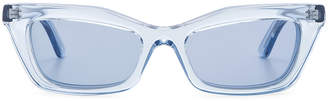 Balenciaga Rectangular Cat Eye Sunglasses in Ice Blue | FWRD