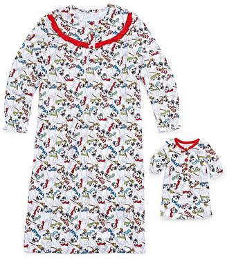 Asstd National Brand Long Sleeve Nightgown & Doll Gown