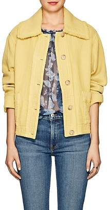 Raquel Allegra Women's Frayed Canvas Boxy Jacket
