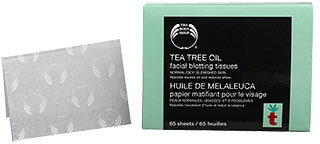 Tea Tree Oil Facial Blotting Tissues