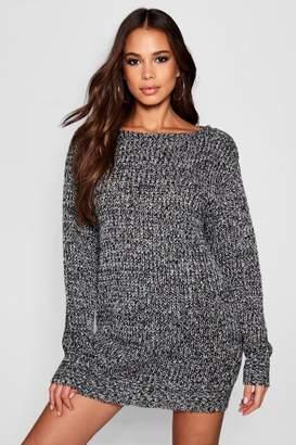 boohoo Tall Marl Knit Jumper Dress