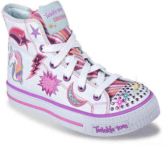 Skechers Twinkle Toes Twist N Turns Toddler & Youth Light-Up High-Top Sneaker - Girl's