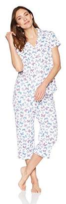 Karen Neuburger Women's Short Sleeve Capri Pajamas Set Pj