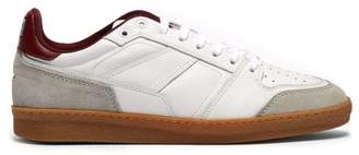Ami Basket Leather And Suede Low Top Trainers - Mens - Red White