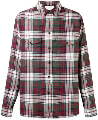Gucci plaid pocket shirt
