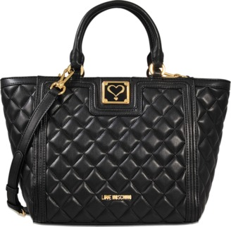 Love Moschino Quilted shopper bag $270 thestylecure.com
