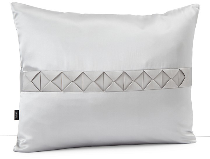 HUGO BOSS BOSS HOME for Windsor Grograin Ribbon Silk Decorative Pillow, 16 x 20