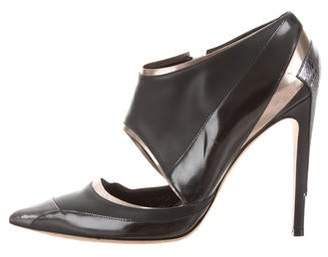 Prabal Gurung Pointed-Toe Leather Booties