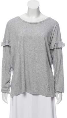 MICHAEL Michael Kors Long Sleeve Ruffle T-Shirt