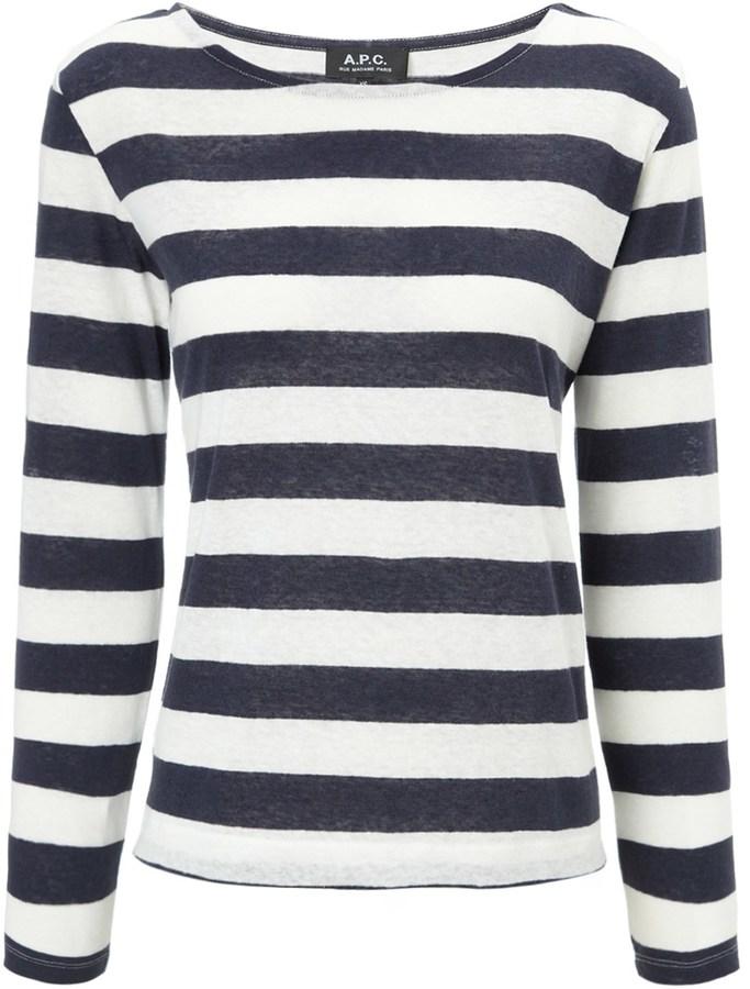 A.P.C. Marine Sheer Stripe Top