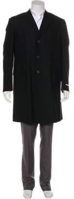 Prada Virgin Wool & Mohair Overcoat w/ Tags