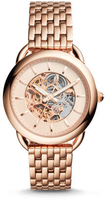 Fossil Tailor Automatic Rose Gold-Tone Stainless Steel Watch