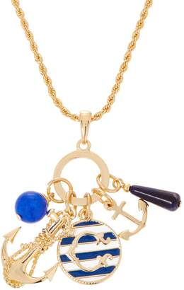 """C. Wonder Mulit-Charm Anchor Necklace with 31-1/2"""" Chain"""