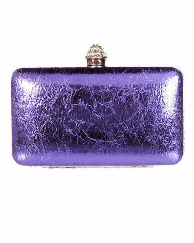 Embossed Hard Case Clutch