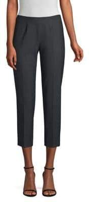 Piazza Sempione Audrey Stretch Wool-Blend Crop Pants