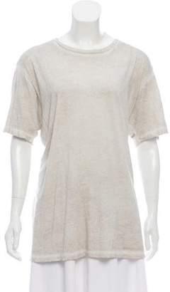 Baja East Distressed Short Sleeve T-Shirt