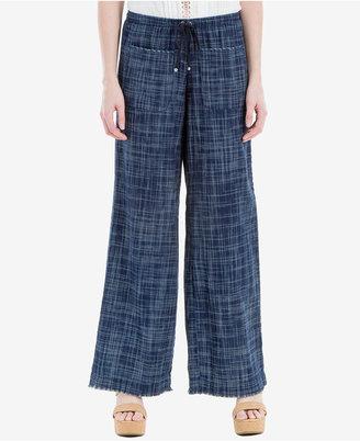Max Studio London Cotton Frayed Wide-Leg Pants $98 thestylecure.com