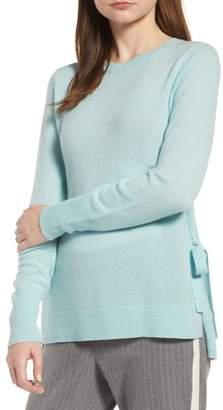 Halogen Side Tie Cashmere Sweater (Regular & Petite)