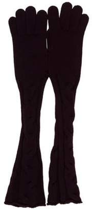 Loro Piana Cashmere Knit Gloves Purple Cashmere Knit Gloves