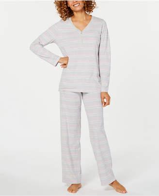 Charter Club Cotton Henley Pajama Set