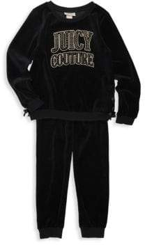 Juicy Couture Girl's Two-Piece Sweater & Jogger Pants Set