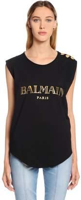 Balmain (バルマン) - BALMAIN コットンジャージータンクトップ