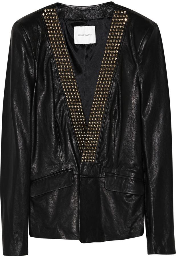 Balmain Pierre Studded leather blazer