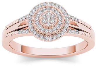 MODERN BRIDE 1/6 CT. T.W. Diamond 10K Rose Gold Engagement Ring
