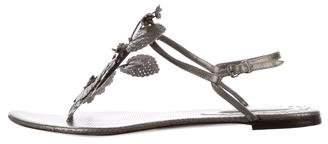 Bottega Veneta Perforated Thong Sandals