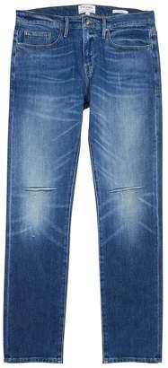 Frame L'Homme Slim Blue Distressed Jeans