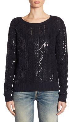 Ralph Lauren Collection Silk Sequin Pullover