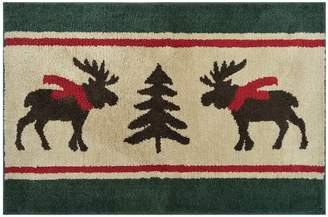 St Nicholas Square Supersoft Moose Holiday Rug - 24'' x 36''