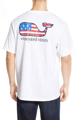 Vineyard Vines American Flag Whale Graphic T-Shirt