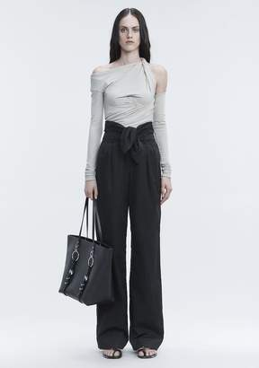 Alexander Wang POPLIN PLEAT FRONT PANT PANTS