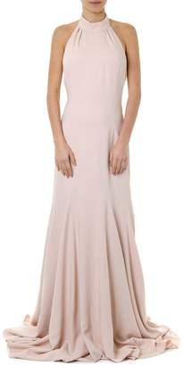 Stella McCartney Rose Magnolia Backless Halterneck Gown