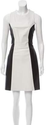 Jason Wu Leather Lace-Accented Mini Dress
