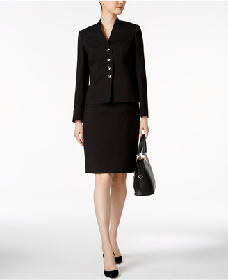 Le Suit Stand-Collar Skirt Suit $200 thestylecure.com