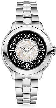 Fendi (フェンディ) - Fendi Fendi Fendi IShine Mother-Of-Pearl Diamond Stainless Steel Bracelet Watch