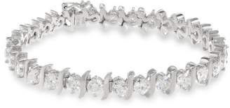 10k White Diamond S Link Tennis Bracelet (10 cttw