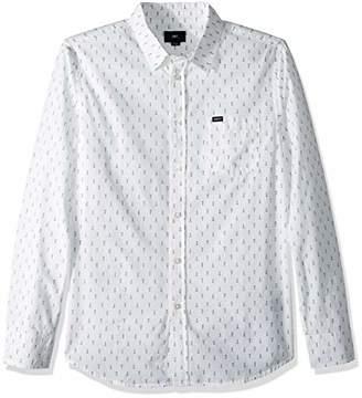Obey Men's Screw Long Sleeve Woven Shirt