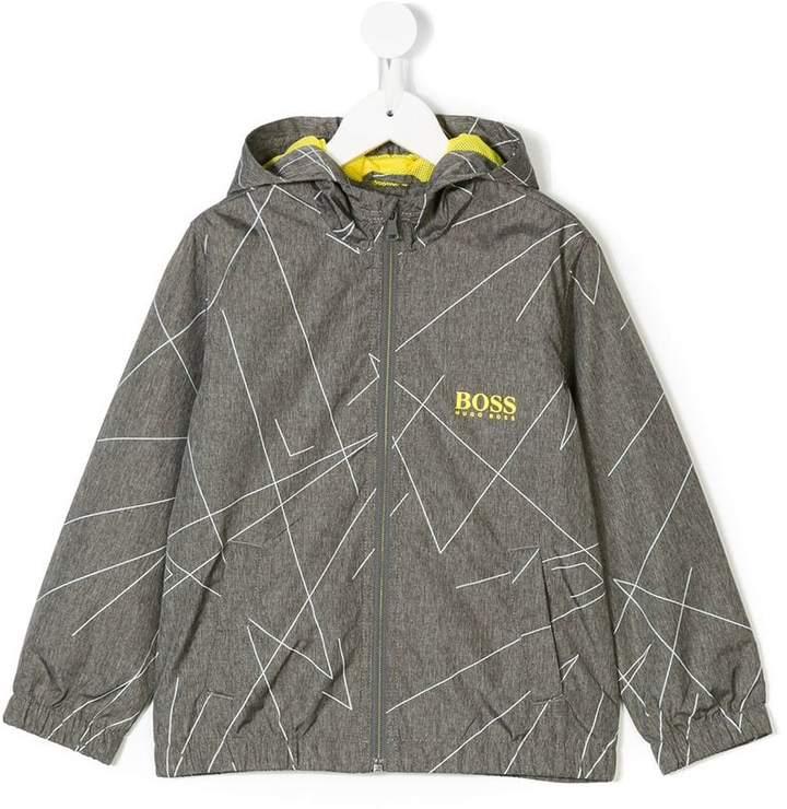 Boss Kids hooded printed jacket