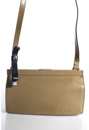 Miu MiuMiu Miu Beige Leather Shoulder Handbag