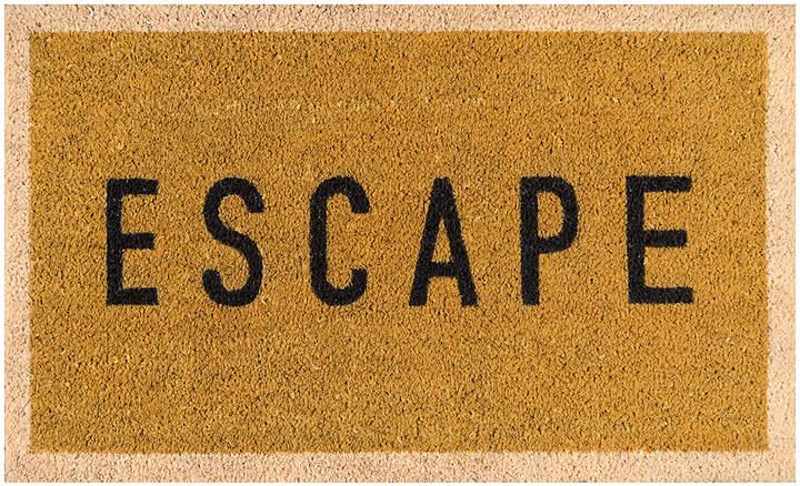 Gold € ̃Escape€TM Coir Doormat
