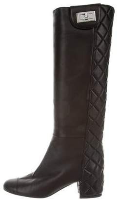 Chanel Quilted Cap-Toe Boots
