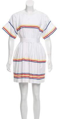 Lisa Marie Fernandez Embroidered Mini Dress